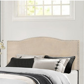 Kiley Collection Full/Queen Size Headboard with Headboard Frame Included, Linen Fabric, 64-3/8'' W x 74-1/2'' D x 49-1/4'' H