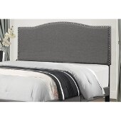 Kiley Full/Queen Size Headboard with Metal Headboard Frame Included in Stone Fabric, 64-3/8'' W, Available in Other Bed Sizes