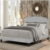 Desi Collection Bed in One in Multiple Sizes with Glacier Gray Fabric, 58'' W x 83-1/8'' D x 45-1/4'' H