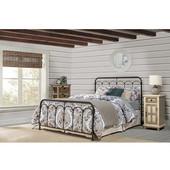 Jocelyn Bed Set - King - With Bed Frame, Black Speckle Finish