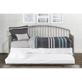Brandi Daybed Metal Suspension Deck and Metal Trundle Unit Included in Stone Finish, 32-1/4'' W x 82'' D x 40-1/4'' H