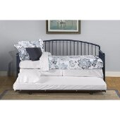 Brandi Daybed Metal Suspension Deck and Metal Trundle Unit Included in Navy Finish, 32-1/4'' W x 82'' D x 40-1/4'' H