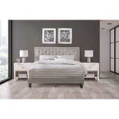 La Croix Full Size Bed in One in Glacier Gray Fabric, 58'' W, Available in Other Bed Sizes
