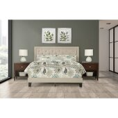 La Croix Full Size Bed in One in Fog Fabric, 58'' W, Available in Other Bed Sizes