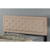 La Croix Full/Queen Headboard with Metal Headboard Frame Included in Linen Fabric, 64'' W, Available in Other Bed Sizes