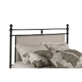 Ashley King Size Headboard with Metal Headboard Frame Included in Rustic Brown Finish and Linen Stone, 78-1/2'' W x 74'' D x 57-1/2'' H