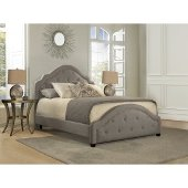 Belize Queen Size Bed with Rails Included in Light Gray Fabric, 65'' W x 90-3/4'' D x 59'' H