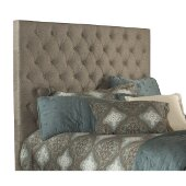 Savannah King Size Headboard with Metal Headboard Frame Included in Natural Fabric, 80-7/8'' W x 75-3/4'' D x 67-3/8'' H
