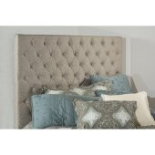 Savannah Queen Size Headboard with Metal Headboard Frame Included in Natural Fabric, 65'' W x 75-3/4'' D x 67-3/8'' H