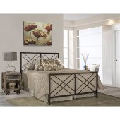 Westlake Full Size Bed with Metal Bed Rails Included in Magnesium Pewter Finish, 54'' W x 72-3/4'' D x 52-1/4'' H