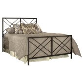 Westlake King Size Bed with Metal Bed Rails Included in Magnesium Pewter Finish, 75-1/2'' W x 84-1/2'' D x 52-1/4'' H