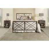 Westlake Queen Size Bed with Metal Bed Rails Included in Magnesium Pewter Finish, 61'' W x 84-1/2'' D x 52-1/4'' H