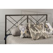 Westlake Twin Size Headboard with Metal Headboard Frame Included in Magnesium Pewter Finish, 39'' W x 63-3/4'' D x 52-1/4'' H