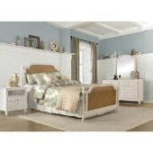 Melanie Queen Size Bed with Metal Bed Rails Included in White Finish, 61-3/4'' W x 87-1/2'' D x 51'' H