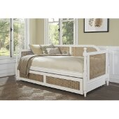 Melanie Daybed with Trundle Unit in White Finish, 42-1/4'' W x 82-1/2'' D x 35-7/8'' H