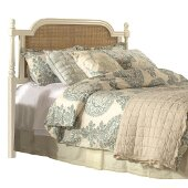 Melanie King Size Headboard with Metal Headboard Frame Included in White Finish, 77-1/4'' W x 73-1/2'' D x 51'' H