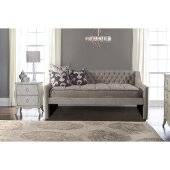 Jaylen Daybed in Silver Fabric , 45-1/4'' W x 87-1/8'' D x 38-3/8'' H