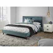 Aussie Queen Platform Bed, Teal Velvet (Includes: Headboard, Footboard and Side Rails), 67-1/4''W x 81''D x 41-1/2''H