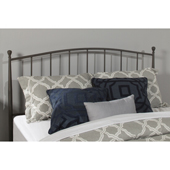 Warwick Twin Size Metal Headboard with Headboard Frame in Gray Bronze Finish