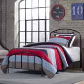 Tolland Metal Twin Bed with Arched Spindle Design, Black (Includes Headboard, Footboard and Slat Support System)