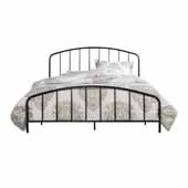 Tolland Metal Full Bed with Arched Spindle Design, Black (Includes Headboard, Footboard and Slat Support System)