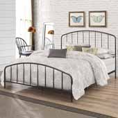 Tolland Metal Queen Bed with Arched Spindle Design, Black (Includes Headboard, Footboard and Slat Support System)