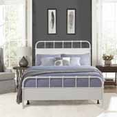 Grayson King Metal Bed, Textured White (Includes Headboard, Footboard and Bed Frame)
