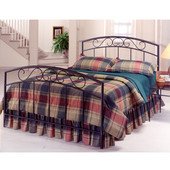Wendell Collection Full Bed Set with Rails in Textured Black (Set Includes: Headboard, Footboard and Rails)