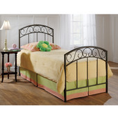 Wendell Collection Twin Bed Set with Rails in Copper Pebble (Set Includes: Headboard, Footboard and Rails)