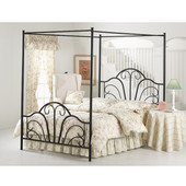 Dover Collection Full Bed Set with Rails in Textured Black (Set Includes: Headboard, Footboard and Rails)
