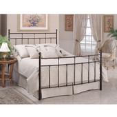 Providence Collection Full Bed Set with Rails in Antique Bronze (Set Includes: Headboard, Footboard and Rails)