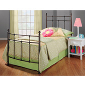 Providence Collection Twin Bed Set with Rails in Antique Bronze (Set Includes: Headboard, Footboard and Rails)