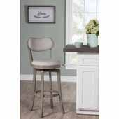 Sloan Swivel Counter Height Stool, Aged Gray, 20''W x 17-3/8''D x 38-1/4''H