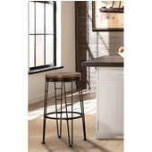 Northpark Backless Swivel Counter Stool, Chestnut Finish
