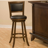 Dennery Swivel Bar Stool, Cherry, 17-1/2''W x 19''D x 41-3/4''H