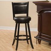Dennery Swivel Counter Stool, Black, 17-1/2''W x 19''D x 37-3/4''H