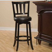 Presque Isle Swivel Bar Stool, Black, 17-1/2''W x 19''D x 43-1/2''H
