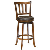 Presque Isle Swivel Bar Stool, Cherry, 17-1/2''W x 19''D x 43-1/2''H
