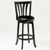 Savana Swivel Bar Stool, Black, 17-1/2''W x 19''D x 43-1/2''H