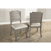 Clarion Dining Chair, Set of 2 in Distressed Gray Finish and Fog Fabric , 19'' W x 22'' D x 37-1/8'' H