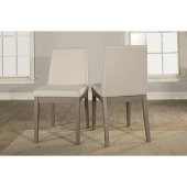 Clarion Upholstered Dining Chair, Set of 2 in Distressed Gray Finish and Fog Fabric , 17-1/2'' W x 22-1/2'' D x 35-1/4'' H