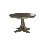 Clarion Round Dining Table in Distressed Gray Base / Multi-Step Wirebrush Top, 48'' Diameter x 30-1/2'' H