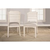 Clarion Dining Chair, Set of 2 in Sea White Finish and Fog Fabric , 19'' W x 22'' D x 37-1/8'' H