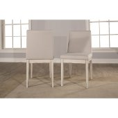 Clarion Upholstered Dining Chair, Set of 2 in Sea White Finish and Fog Fabric , 17-1/2'' W x 22-1/2'' D x 35-1/4'' H