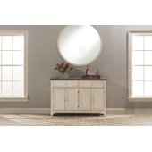 Clarion Server in Distressed Gray Top / Sea White Base Finish, 54-1/8'' W x 17'' D x 36-1/4'' H