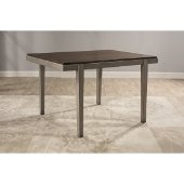 Garden Park Dining Table in Gray with Dark Espresso (Wirebrush) Finish, 48-1/2'' W x 36-1/2'' D x 30'' H