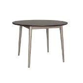 Mayson Dining Table in Gray with Chocolate Finished Top Finish, 42'' W x 42'' D x 29-5/8'' H