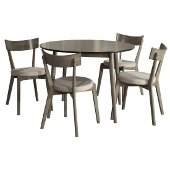 Mayson 5-Piece Dining Set in Gray Finish, 50-13/16'' W x 26-1/2'' D x 37'' H