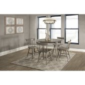 Mayson 5-Piece Dining Set with Spindle Back Chairs in Gray Finish, 50-13/16'' W x 26-1/2'' D x 37'' H