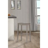 Fiddler Non-Swivel Backless Counter Stool in Aged Gray Finish, 18'' W x 12'' D x 24'' H